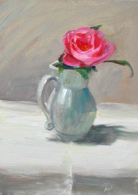 Still life with Camelia by Marina Kim