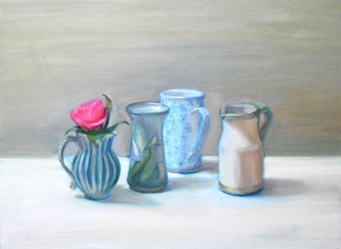 Still Life With Jugs And Camelia