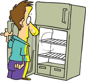 Empty fridge cartoon