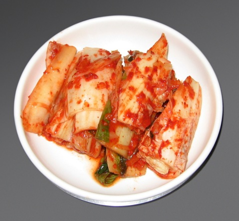 Kimchi: Korean pickled cabbage.