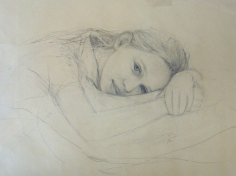 Holly Gurney by Marina Kim. Pencil on Paper