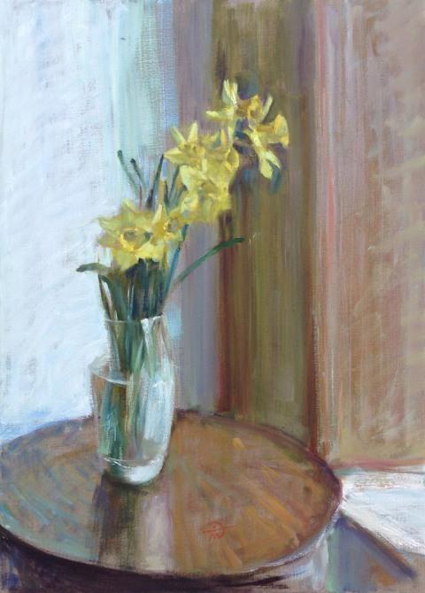 Still life with Daffodils by artist Marina Kim