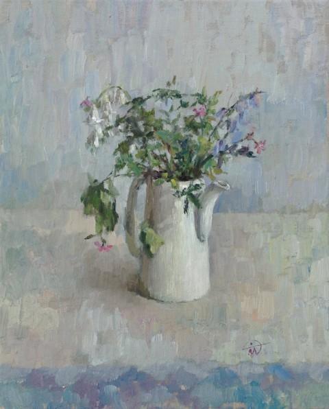 "Still life ""Posy in a Tea Pot"" by artist Marina Kim"