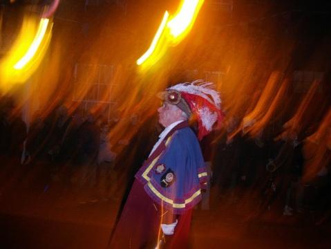 Rye Town Crier on the Bonfire Night. Photo by Marina Kim.